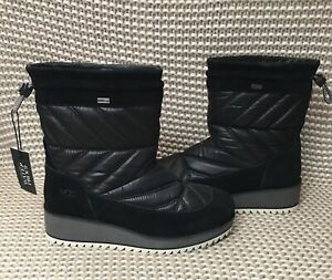 69ffbd8dd9c Details about UGG BECK BOOT BLACK WATERPROOF SUEDE/ NYLON WINTER BOOTS, US  8/UK 6