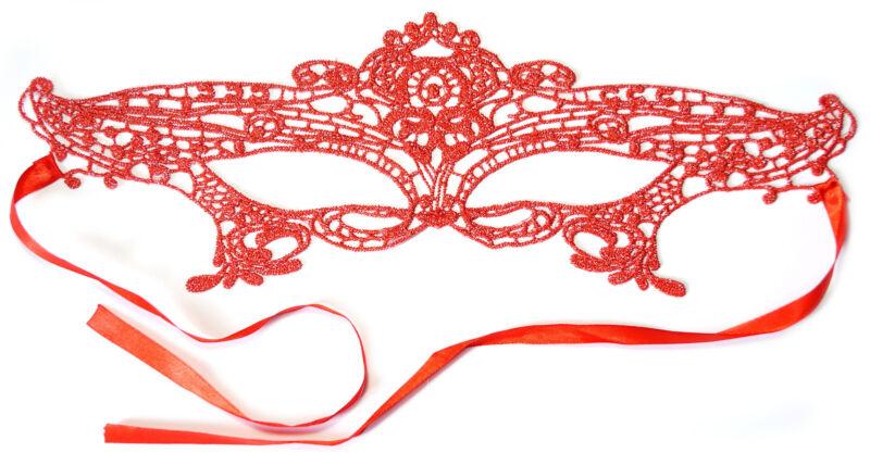 Angemessen Preskin Rote Sexy Spitzen Maske Verführung Verkleidung Shades Of Grey Gogo Party Ausreichende Versorgung