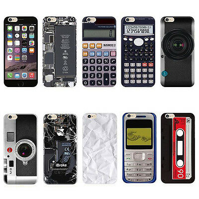 Retro Gadget Phone Case Electronics Collection Cover For Apple iPhone 5 5S 6 6S