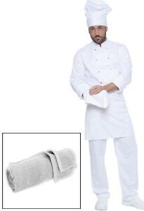 size 40 231fb 81807 Dettagli su Torcione Cuoco Uomo Donna da Lavoro Cucina Chef Ristorante  Abbigliamento Abiti