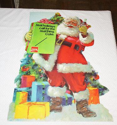 Rare 1970's Coca Cola Counter Display Santa Claus  Coke