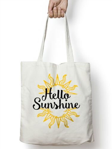 Hello Sunshine Shopper Tote Beach Bag Holiday Pool Light Weight Novelty M106