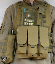 Green Tactical Vest / Airsoft Plate carrier/ Army Molle Vest Chest Rig Webbing