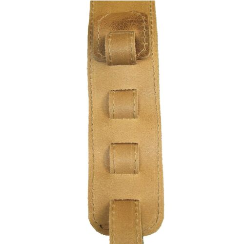 Adjustable Guitar Strap Full Grain Distressed Leather Stitched