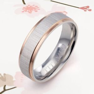 d898c1822 Image is loading Rose-Gold-Titanium-Promise-Couple-Lady-Friendship-Men-