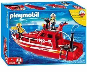 Playmobil-3128-Tres-Grand-bateau-des-Pompiers-sauveteurs