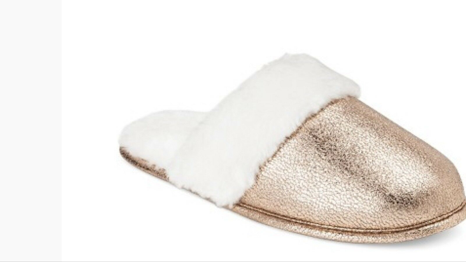 Womens Xhilaration Gold/White Slippers W/ Faux Fur Gold/White Xhilaration Size Small 5/6 -NEW 2e55c3