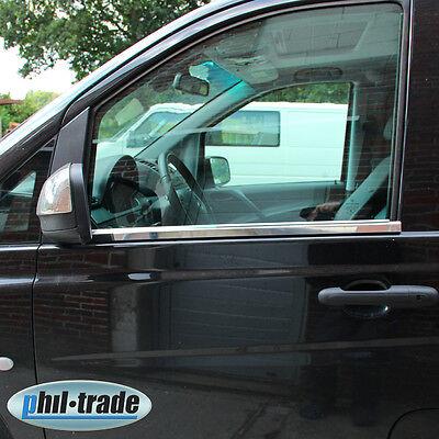Mercedes W639 Vito Viano Chrom Fensterleisten Zierleisten Edelstahl Bj 2003-2014