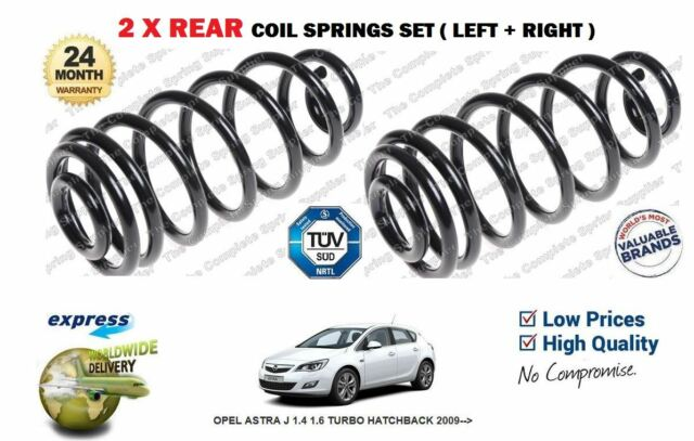FOR OPEL ASTRA J  1.4 1.6 TURBO HATCHBACK 2009--> NEW 2x REAR COIL SPRING SET