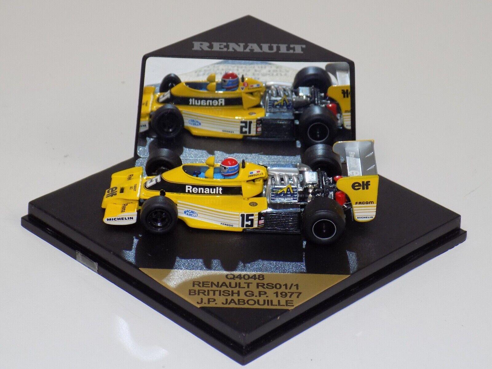 1 43 Quartzo F1 Renault RS01 1 Car British GP J.P.Jabouille Q4048