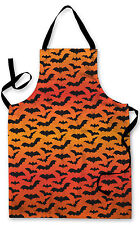 BLACK pipistrelli Halloween Arancione Design Grembiule Barbecue Cucina Cucina pittura spettrale