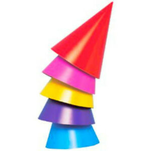 Image Is Loading 8 Rainbow Party Hats Kids Supplies Children