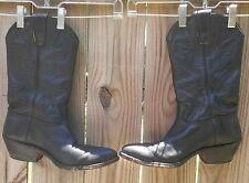 Stewart Boot Co. Vintage 1977 Handmade Black Leather Cowboy Boots Men's Size 8EE