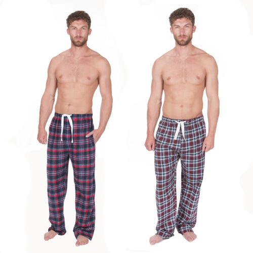Confezione da 2 da uomo invernale FLANELLA in pile tessuto di cotone Lounge Pantaloni Pantaloni Taglie S-XL