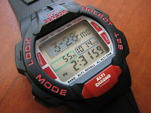 Rare NEWNOS Vtg Seiko  Alba W753 LCD Digital ProHiker altimeter sport watch - <span itemprop='availableAtOrFrom'>Poole, Dorset, United Kingdom</span> - Rare NEWNOS Vtg Seiko  Alba W753 LCD Digital ProHiker altimeter sport watch - Poole, Dorset, United Kingdom