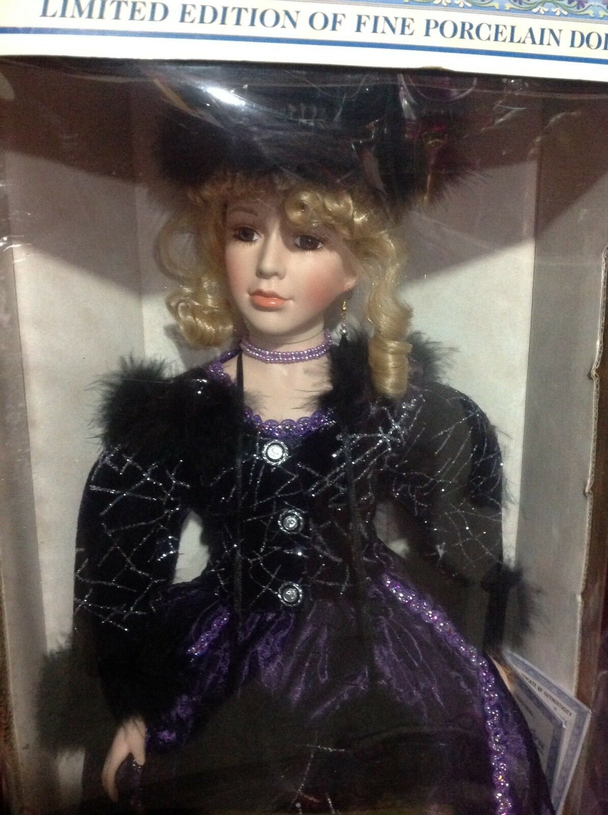 "26"" Alexandra Collection Porcelain Doll  viola Dress  by Madame Alexander NIP"