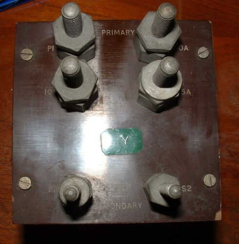 Ferranti VA10CM current transformer primary 10A,25A,50A secondary 5A WRD