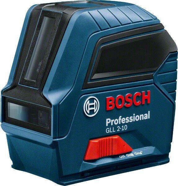 Bosch Linienlaser GLL 2-10 Professional mit 3 x 1,5 V LR6, Schutzhülle