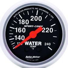 "AutoMeter 3332 Gauge, Water Temp, 2 1/16"", 120-240ºF, Mechanical, Sport-Comp"
