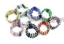 """SALE Wholesale 8X Multicolor Ball Cloisonne &Hematite Magnetic 28"""" bracelet-w132"""