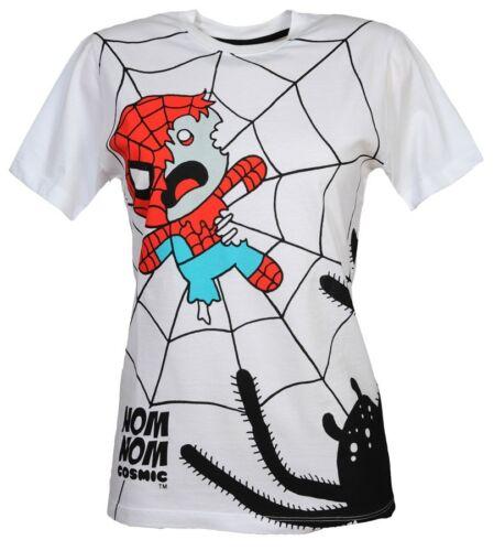 Cosmic Spider Trap Zombie Spiderman Comic Cartoon White Short Sleeved Tshirt