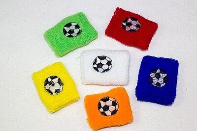 12x Schweissarmband Fußball Schweißband Schweißarmbänder