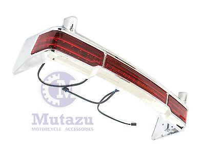 Mutazu Wrap Around Chrome LED Tail Light Bar for 97-13 Harley King Tour Pak