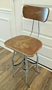 Vintage Antique  Adjustable Drafting Stool  Steam Punk Industrial  Atlanta Area