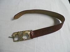 Old Vintage Leather Cap Gun Belt Cowboy Pistol Belt Buckle
