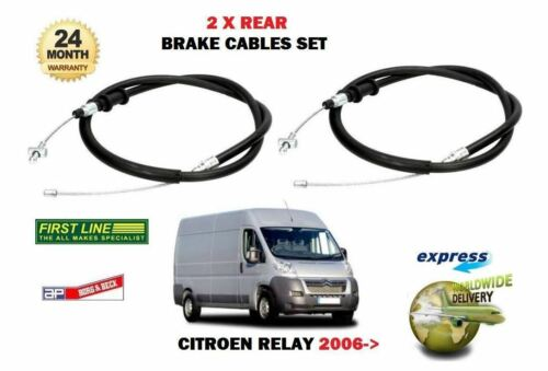RIGHT 2 X REAR HAND BRAKE CABLE SET FOR CITROEN RELAY HDI 2006--/> NEW LEFT