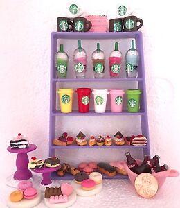 Littlest-Pet-Shop-RANDOM-6-PC-Custom-Lot-STARBUCKS-Sweets-TREATS-LPS-Accessories