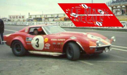 Calcas Corvette C3 Le Mans 1968 1:32 1:24 1:43 1:18 Chevrolet decals