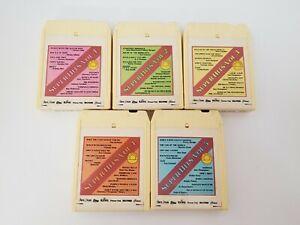 Vintage Super Hits 8-Track Tapes Set of 5 Vol. 1-5 Gusto Dobie Gray FREE SHIP
