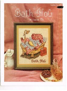 FOR-BATHROOMS-CROSS-STITCH-LEAFLET-BOOK