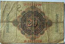 20 Zwanzig Mark 1909  Ro37  Deutsches Reich (46)