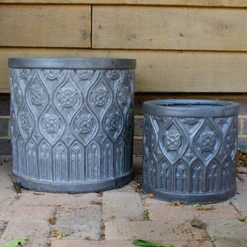 55 cm clayfibre Faux plomb Mayfield Cylindre JARDINIERE//Maison et Jardin
