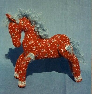 # 63 HORSE in Calico, with  moveable legs Stuffed toy PATTERN