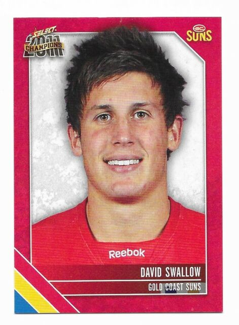 2011 SELECT CHAMPIONS GOLD COAST SUNS DAVID SWALLOW # 90 COMMON FREE POST AFL