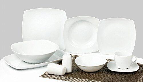 Porcelaine Service de Vaisselle Combi 40 Pièces Blanc Classic