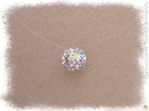 Collier-en-fil-de-nylon-transparent-ras-du-cou-Cristal-de-Swarovski-Elements
