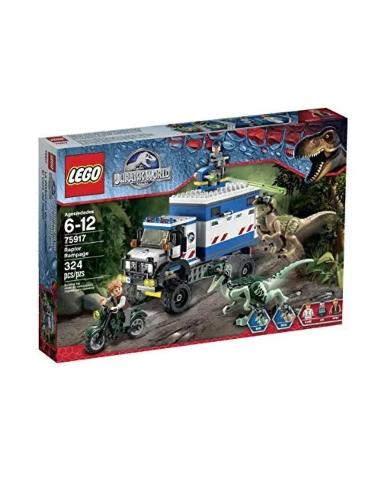 Lego Jurassic värld 7917 Raptor Rampage New Seaed Pensionerad
