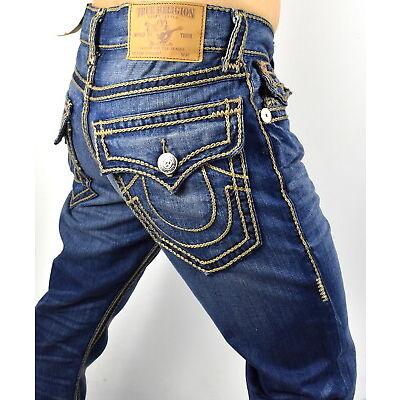 True Religion Hand Picked Ropestitch Straight Super T Jeans - 101357