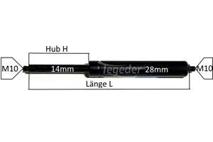 Gasfeder-GF14-Laenge268mm-768mm-Hub-100mm-350mm-Druck-waehlbar-100-2500N