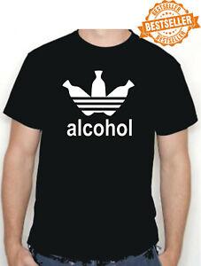 ADIDAS Alcohol T-Shirt / Spoof / Parody / Funny / Birthday Gift / BBQ / S-XXL