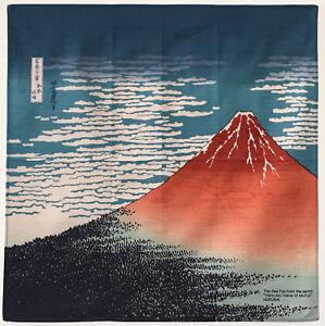 820f79a4d21 Details about Japanese wrapping cloth FUROSHIKI - The Red Fuji ~ Ukiyo-e  Katsushika Hokusai