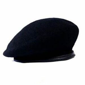 Image is loading Military-Beret-Breathable-Pure-Wool-Soldier-Caps-Outdoor- 5a920f2f44b