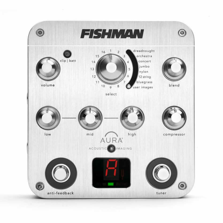 FISHMAN Aura Spectrum Acoustic Guitar DI EQ Tuner Pedal PROAURSPC NEW