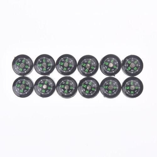 12pcs 15mm mini compasses portable handheld outdoor emergency survival  KN