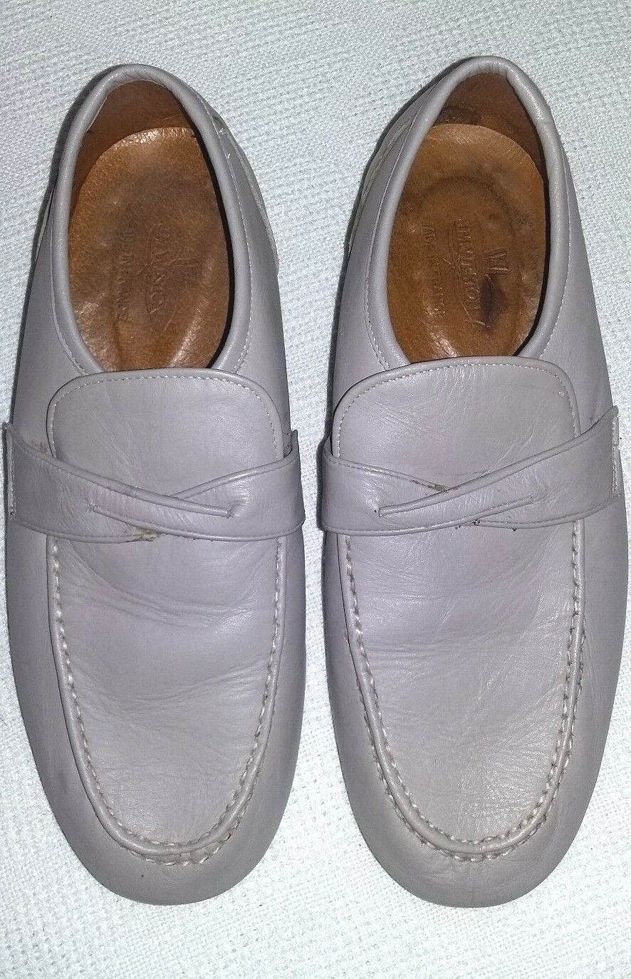 J M Weston Mens Leather Loafers size 9M