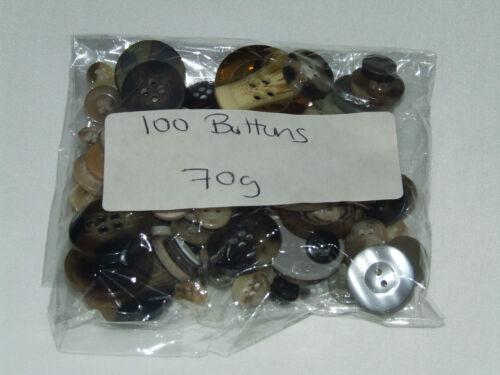 CRAFT BUTTONS PACKS OF 100 175 VARIOUS COLOURS /& WEIGHTS JOBLOT PACKS